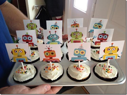 Mason daycare birthday cupcakes