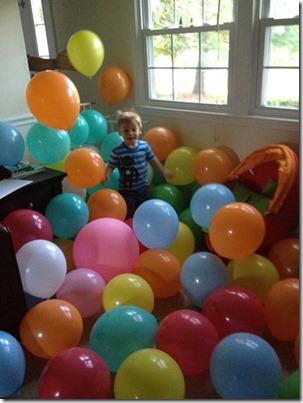 Mason 3rd bday balloons